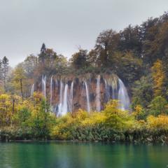 Осень на Плитвицких озерах