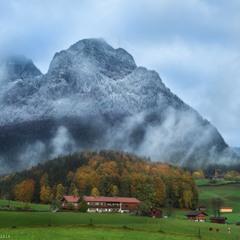 Германия. Бавария. Осень в окрестности города Ramsau