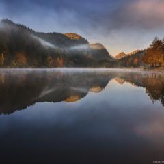 Германия. Фюссен. Утро на озере Обер
