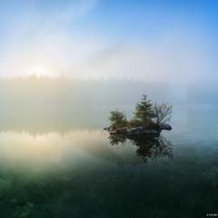 Германия. Утро на озере Hintersee