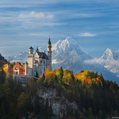 Германия. Бавария. Панорама замка Neuschwanstein