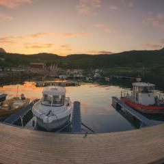 Норвегия. Остров Senja. Вечер в бухте Frovagen