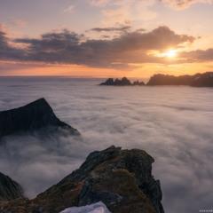 Норвегия. Остров Senja. Туманное море