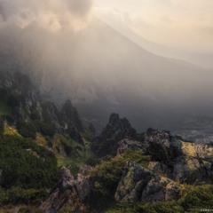 Словакия. Высокие Татры. Утро на горе Predne Solisko