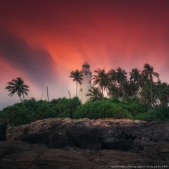 Шри Ланка. Маяк Beruwala на закате