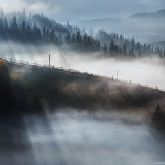 Карпаты. Дземброня. Осенний туман