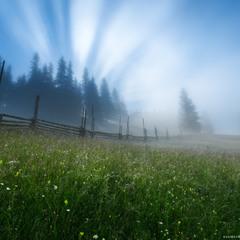Украина. Карпаты. Дземброня. Первые лучи солнца