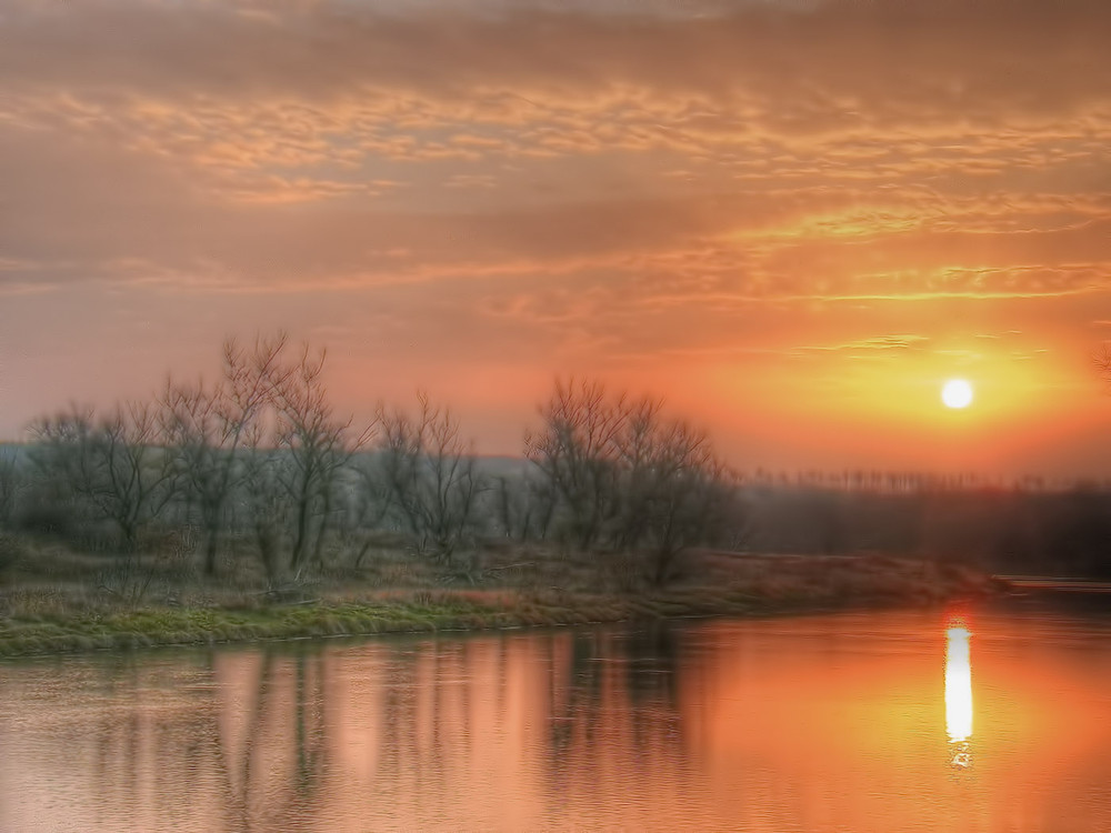 Пейзаж, рассвет, река, утро, фотографии, фото, цифровая фотография, красивые фото, обработка фотографий