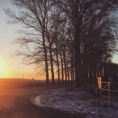 Захід сонця на морозі...