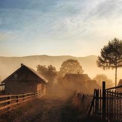 Карпатський осінній світанок...