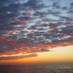 Каспий на закате