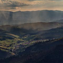 Буковель с горы Хомяк