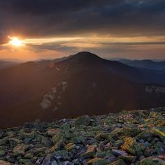 Захід сонця з гори Хом'як