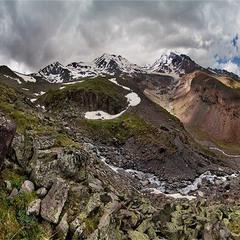Панорама горы Казбек