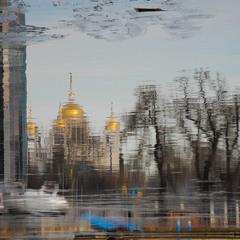 город нарисованный рекой
