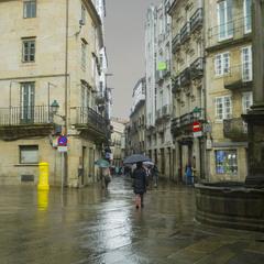 В Сантьяго дождь