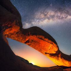 Восход Луны в Шпитцкоппе (Намибия)