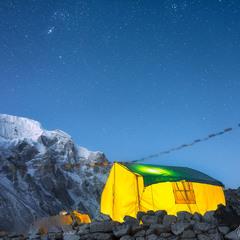 Чайный домик по пути на перевал Ларкья Ла (5 160 м)