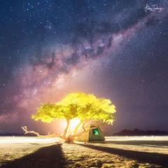 Краткая история о Вселенной, Луне и маленькой палатке под деревом где-то на планете Земля (Намибия)