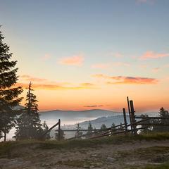 Carpathian sun rise