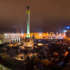 """Передночное """"броуновское"""" движение на Майдане"""