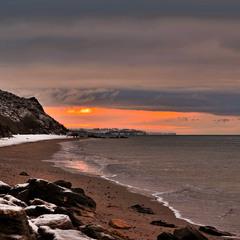 Лютневий ранок на морі