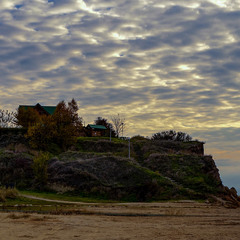 Little House on the cliff by the sea
