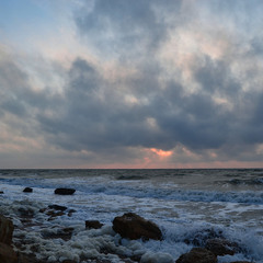 Morning sky over the sea