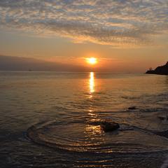 Закат над золотым заливом