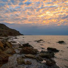Stones on a deserted coast