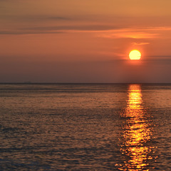 Golden sunrise path