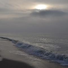 Winter sun over the sea