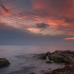 Осенний вечер у моря...