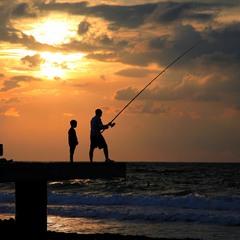 Рыболовы.