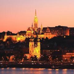 Закат над Будапештом.