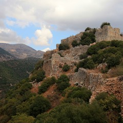 Крепость Нимрод.  Восточная часть.