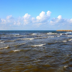 Впадение реки Яркон в Средиземное море.