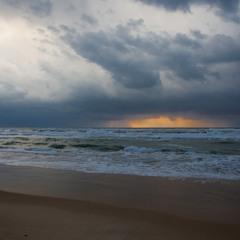 Море на закате.