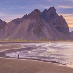 Отлив на мысе Стокснес, Исландия.