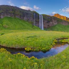 Водопад Сельяландсфосс, Исландия.