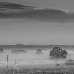 черно- белое утро