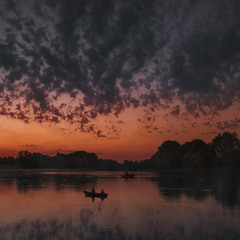 Рассвет на реке Днестр