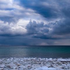 Зимние контрасты Чёрного моря