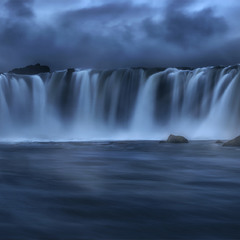 Waterfall of Iceland. Godafoss