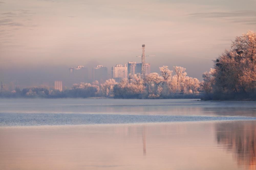 фотографий фото утреннего киева гребень
