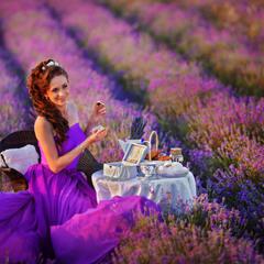 Фотосъемка на лавандовом поле в Крыму