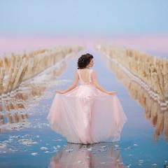 Фотосессия на розовом озере в Крыму #6