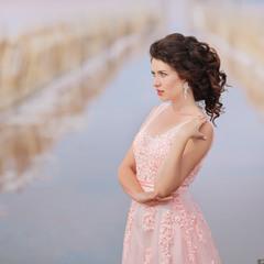 Фотосессия на розовом озере в Крыму #5