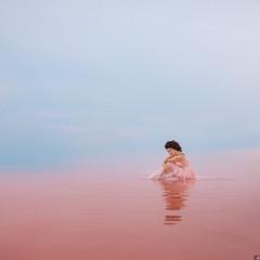 Фотосессия на розовом озере в Крыму #3