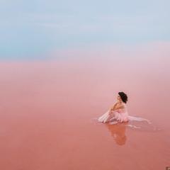 Фотосессия на розовом озере в Крыму #4